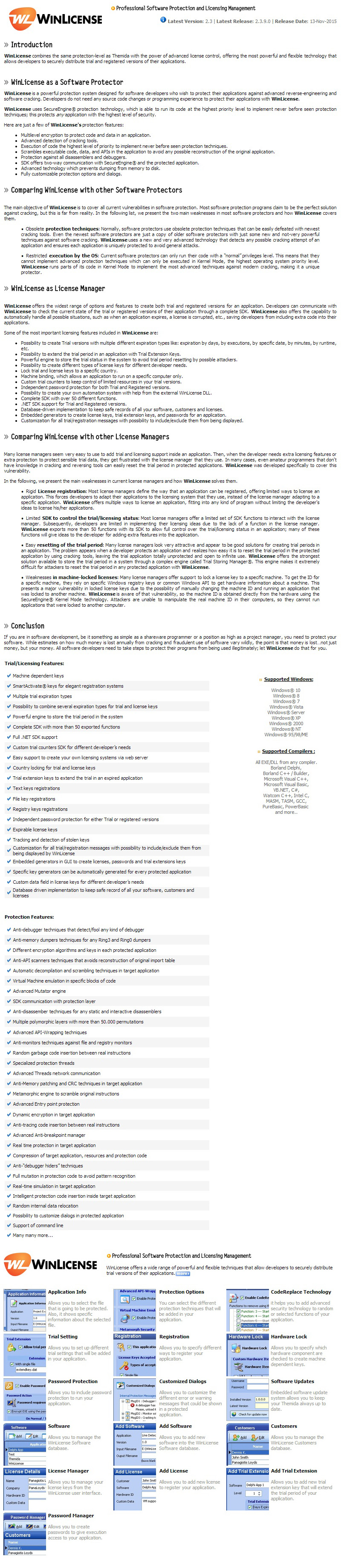 WinLicense 32 Company License :: 소프트이즈